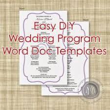 free printable wedding programs templates ceremony u0026 printable