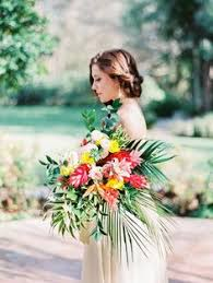 wedding flowers hawaii colorful tropical bouquet creative wedding inspiration