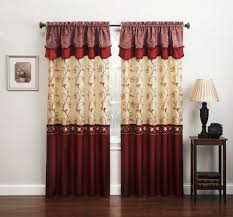 Burgundy Curtains Living Room Living Room Curtains With Attached Valance Garnish Partition For
