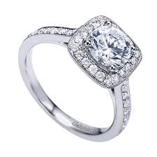 gabriel and co engagement rings gabriel co white gold halo engagement ring w er7525d4
