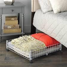 amazon com whitmor rolling underbed cart white wire home u0026 kitchen