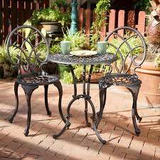 Aluminum Patio Furniture Set - shop best selling home decor charleston 3 piece bronze aluminum