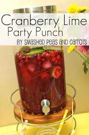 cranberry lime party punch recipe smashed peas u0026 carrots