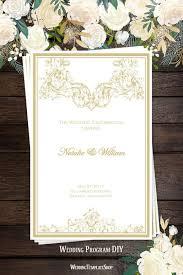 Catholic Wedding Programs Catholic Church Wedding Program Vienna Champagne Wedding