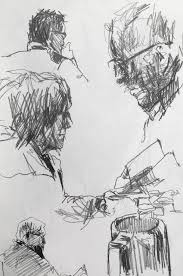life drawing coffee shop sketches original artwork by