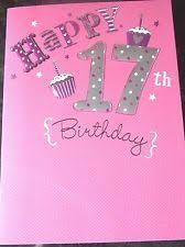 17th birthday card ebay