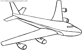 avion coloriages des transports page 2