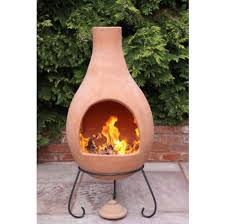 Ceramic Fire Pit Chimney - clay outdoor fireplace fire