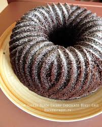cream cheese black cherry chocolate bundt cake bundtamonth