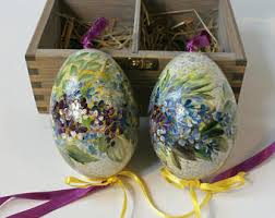 decorated egg shells painted egg shells etsy
