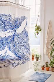 kym fulmer crashing waves shower curtain urban outfitters urban