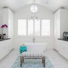 white bathroom tiles black trim design ideas