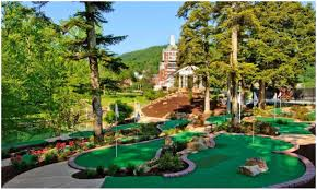 backyard mini golf course design home outdoor decoration