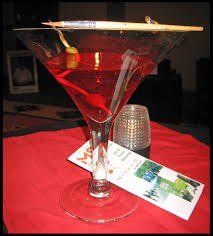 martini glass painting paint the town red for ms inspiration bug blog