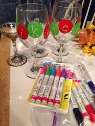 sharpie wine glasses use sharpie oil based markers decorate