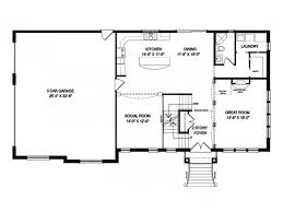 one story floor plans bedroom carlisle best open cottage house