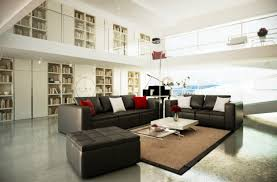Living Room Decor Black Leather Sofa The Most Beautiful Spacious Living Room Decorating Ideas With