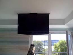 Motorized Ceiling Mount Tv by Bedroom Tv Ceiling Drop Bracket Kingspoint Helensburgh Youtube