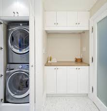 laundry area ideas laundry room transitional with hidden washer