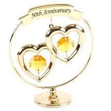 Anniversary Ornament Crystocraft 50th Golden Wedding Anniversary Ornament
