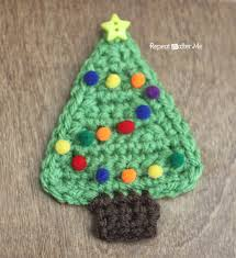 crochet tree applique repeat crafter me
