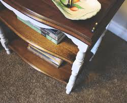 stained table top painted legs fast furniture flip 10 table makeover