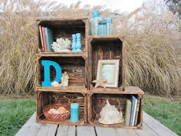 Reclaimed Wood Home Decor Small Wood Crate Stackable Made From Reclaimed Wood Pallets