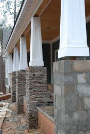 how to build a wrap around porch best 25 stone columns ideas on pinterest stone front porches