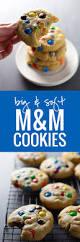 big soft m u0026m cookies recipe pinch of yum