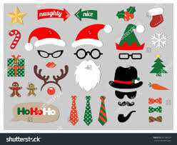 christmas photo booth props christmas photo booth props stock vector 235789729