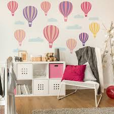 wall stickers for kids and children notonthehighstreet hot air balloon wall stickers
