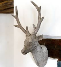 wooden stag wall deer wall decoration