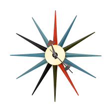 mid century modern wall clock interior design