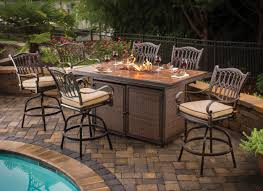 bar top table and chairs patio table set with fire pit beautiful agio bar fire pit set 6