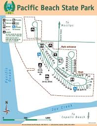 Washington Park Map by Pacific Beach State Park Map Jpg