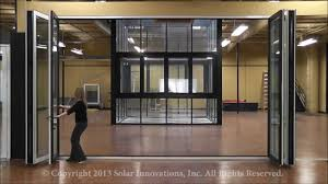 monster folding glass walls two tone paint easy to use solar