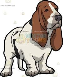 bored a bored basset hound pet dog cartoon clipart vector toons