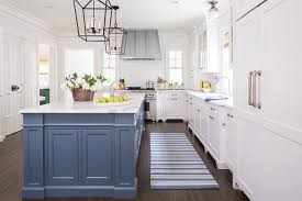 blue kitchen island cabinets 15 blue kitchen islands their paint colors chrissy