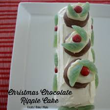christmas chocolate ripple cake create bake make