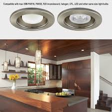 Led Light Bulbs For Recessed Cans by 4 Inch Recessed Light Trim With Satin Nickel Baffle Torchstar