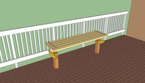 for the front walkway build bench on two 4x4s deck bench plans