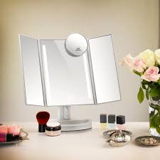 small mirror with lights terresa led lighted makeup mirror with 10x magnifying small mirror