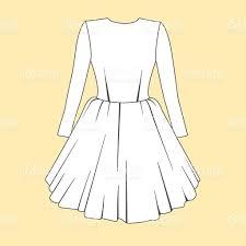 women dress design fashion flat templates sketches stock vector