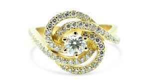 unique engagement ring settings diamond vintage engagement ring 18k yellow gold ring women