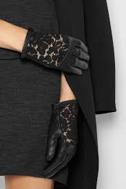 Leather And Lace Clothing Nina Ricci Leather And Lace Gloves In Black Lyst