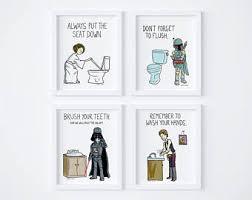 Star Wars Bathroom Set Star Wars Bathroom Etsy