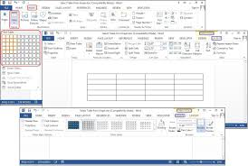 how to create tables in microsoft word