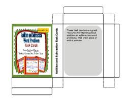 subtraction word problems addition and subtraction word problem task cards by literacy and