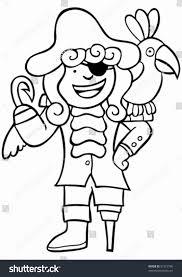 child pirate parrot line art boy stock vector 31572796 shutterstock