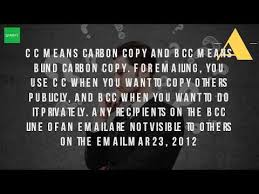 How Does Blind Carbon Copy Work What Does Bcc Do Youtube